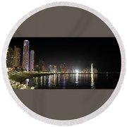 Panama City Night Round Beach Towel