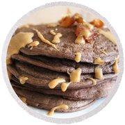 Pancakes Heaven  Round Beach Towel