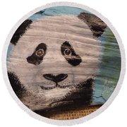 Panda Round Beach Towel by Ann Michelle Swadener