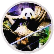 Panda Bear 1 Round Beach Towel