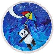 Panda Dreams Round Beach Towel