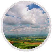 Panorama Of France Round Beach Towel