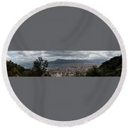 Panorama Palermo Round Beach Towel