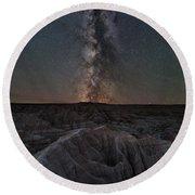 Panorama Point Milky Way Badlands 8x10 Round Beach Towel