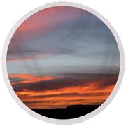 Panorama Point View Capital Reef Round Beach Towel