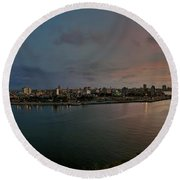 Panoramic View Of Havana From La Cabana. Cuba Round Beach Towel