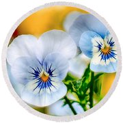 Pansy Forest Round Beach Towel