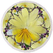 Pansy Swirls Round Beach Towel