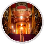 Pantages Theater's Grand Staircase Round Beach Towel
