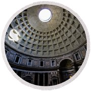 Round Beach Towel featuring the photograph Pantheon by Nicklas Gustafsson