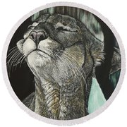 Panther, Cool Round Beach Towel