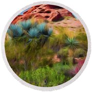 Papago Dreams Round Beach Towel