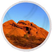 Round Beach Towel featuring the photograph Papago Park 2 by Michelle Dallocchio