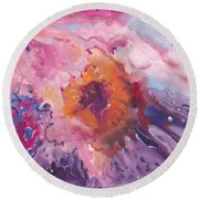Papa's Passion Round Beach Towel