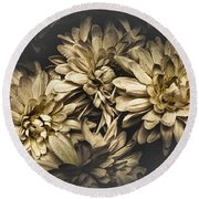 Round Beach Towel featuring the photograph Paper Flowers by Jorgo Photography - Wall Art Gallery