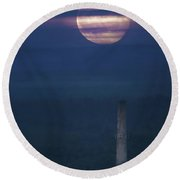 Paper Mill Moon 2 Round Beach Towel