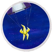 Para-shooting Star #4 Round Beach Towel