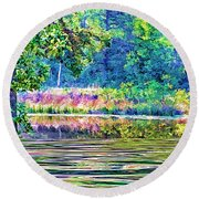 Paradise-2 Round Beach Towel by Nancy Marie Ricketts