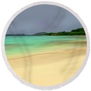 Paradise Round Beach Towel by Anthony Fishburne