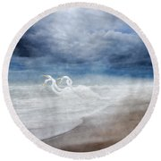 Paradise Dreamland  Round Beach Towel by Betsy Knapp