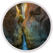 Round Beach Towel featuring the photograph Paradise Falls by Darren White