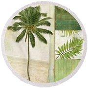Paradise II Palm Tree Round Beach Towel