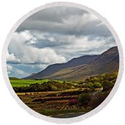Paradise In Ireland Round Beach Towel by Patricia Griffin Brett