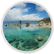 Paradise In May Round Beach Towel