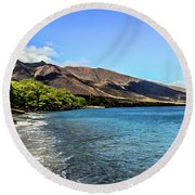 Round Beach Towel featuring the photograph Paradise by Joann Copeland-Paul