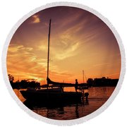 Round Beach Towel featuring the photograph Paradise by Joel Witmeyer