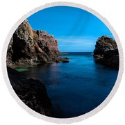 Paradise Lost At Sea Round Beach Towel