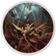 Paradise Lost,  Fall Of The Rebel Angels, Round Beach Towel