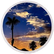 Paradise Palm Springs Round Beach Towel by Chris Tarpening