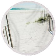 Paradise Scenery Round Beach Towel by Shelby  Young