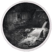 Paradise Springs Dam And Turbine House Ruins Round Beach Towel