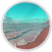 Paradisiac Beaches Round Beach Towel