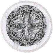 Paradoxical Zendala Round Beach Towel