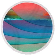 Parallel Dimensions - Submerged Round Beach Towel by Serge Averbukh