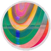 Parallel Dimensions - The Descent Round Beach Towel by Serge Averbukh