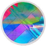Parallel Dimensions - The Multiverse Round Beach Towel by Serge Averbukh