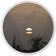 Round Beach Towel featuring the photograph Pardon Me   Just Passing Through by John Glass