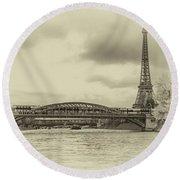Paris 2 Round Beach Towel