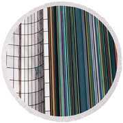 Paris Abstract Round Beach Towel