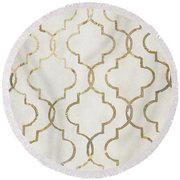 Paris Apartment Iv Round Beach Towel by Mindy Sommers