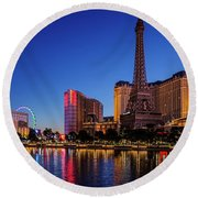 Paris Casino At Dawn 2 To 1 Ratio Round Beach Towel
