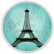 Paris Collage Round Beach Towel by Jim And Emily Bush