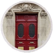 Paris Doors No. 17 - Paris, France Round Beach Towel