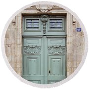 Paris Doors No. 29 - Paris, France Round Beach Towel