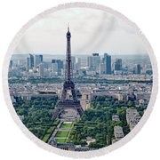 Paris France Round Beach Towel