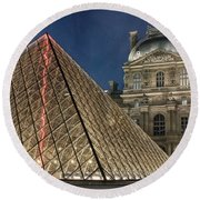 Paris Louvre Round Beach Towel